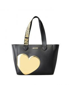 Love Moschino BORSA SHOPPER NERO/ORO